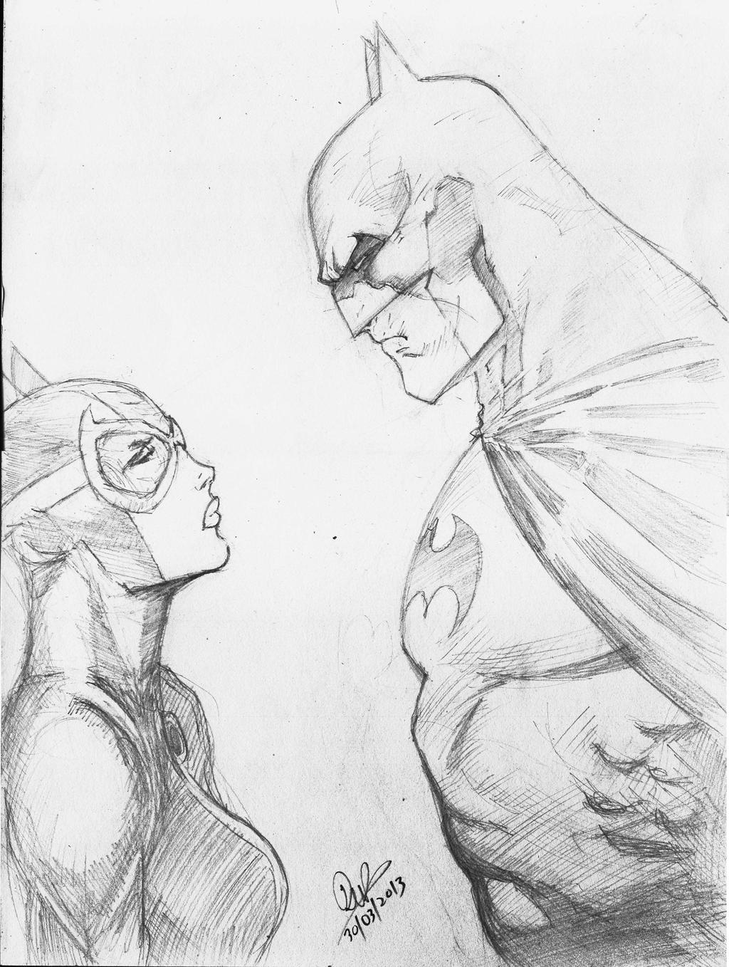 Batman And Catwoman Jim Lee Style by dushans on DeviantArt