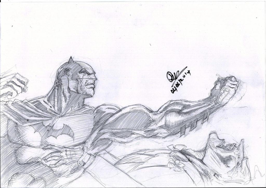 Batman vs The joker Jim lee by dushans