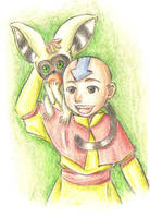 Aang and Momo by snowp