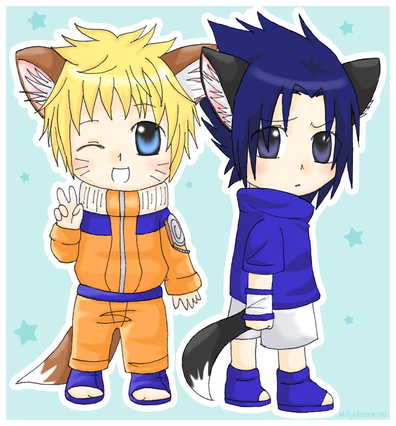 _Chibi_Naruto_and_Sasuke__by_mistyblossoms