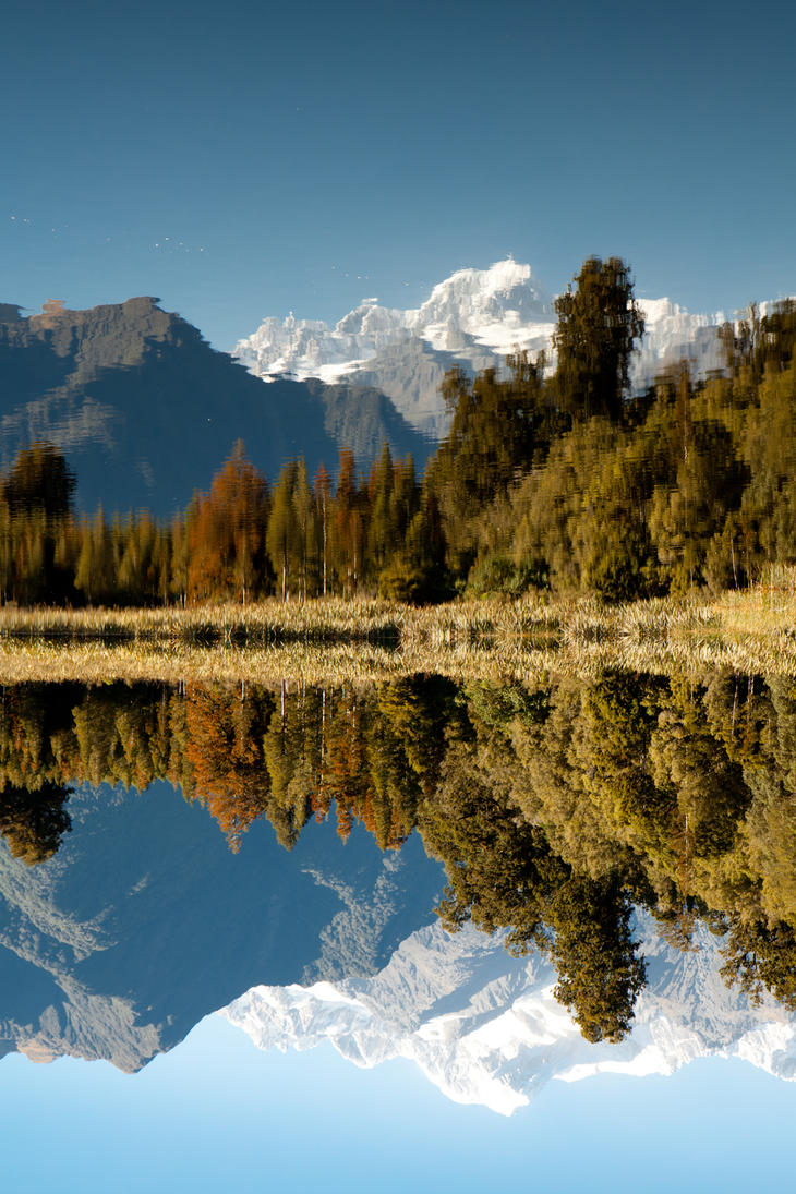 Lake Matheson by StefanjSimons
