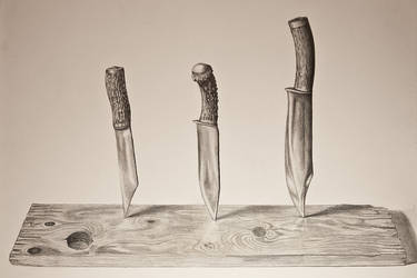 Knives On Table by Dave-Star