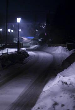 Blue winter night