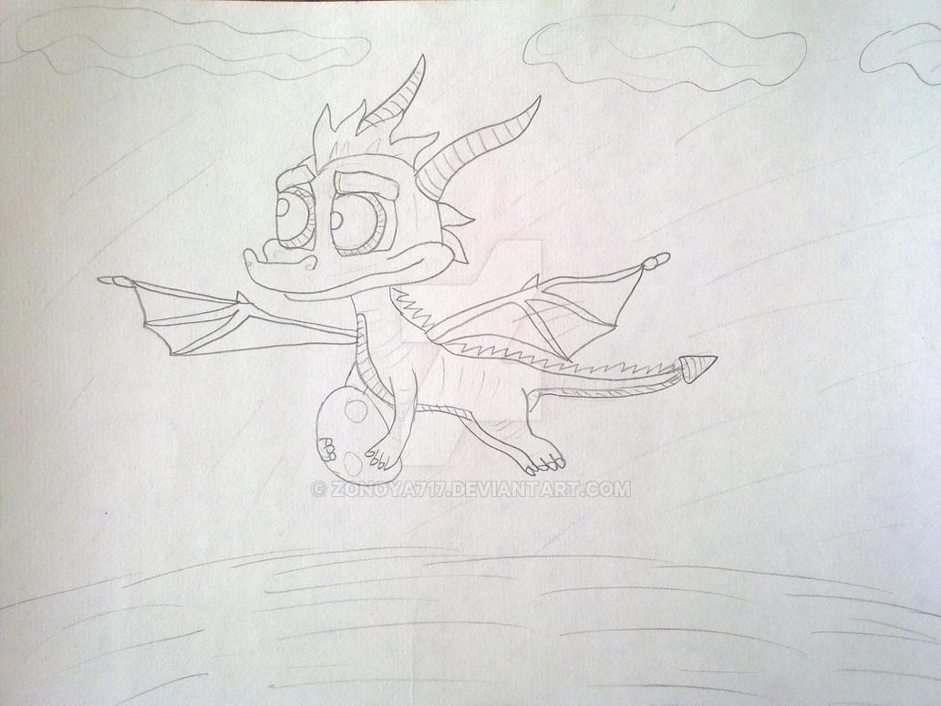 Spyro Carries An Egg by Zonoya717