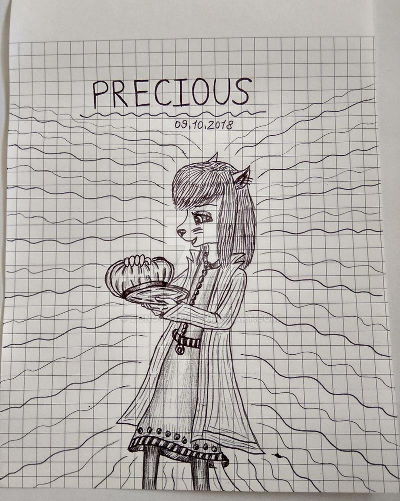 Inktober Day 9: Precious by Zonoya717