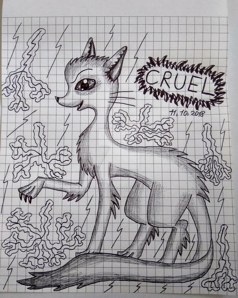 Inktober Day 11: Cruel by Zonoya717
