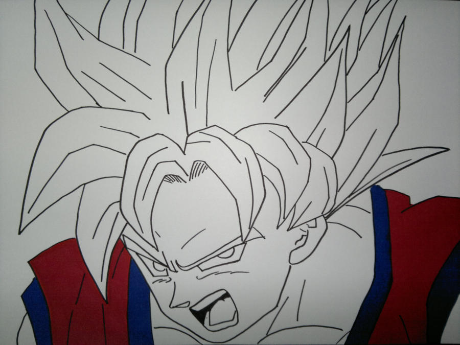 how to draw goku super saiyan 10