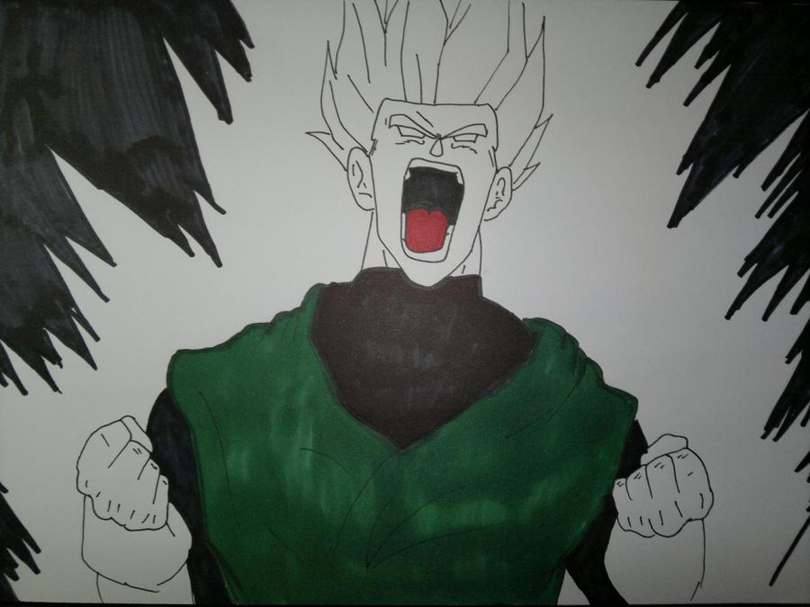 how to draw gohan super saiyan 3