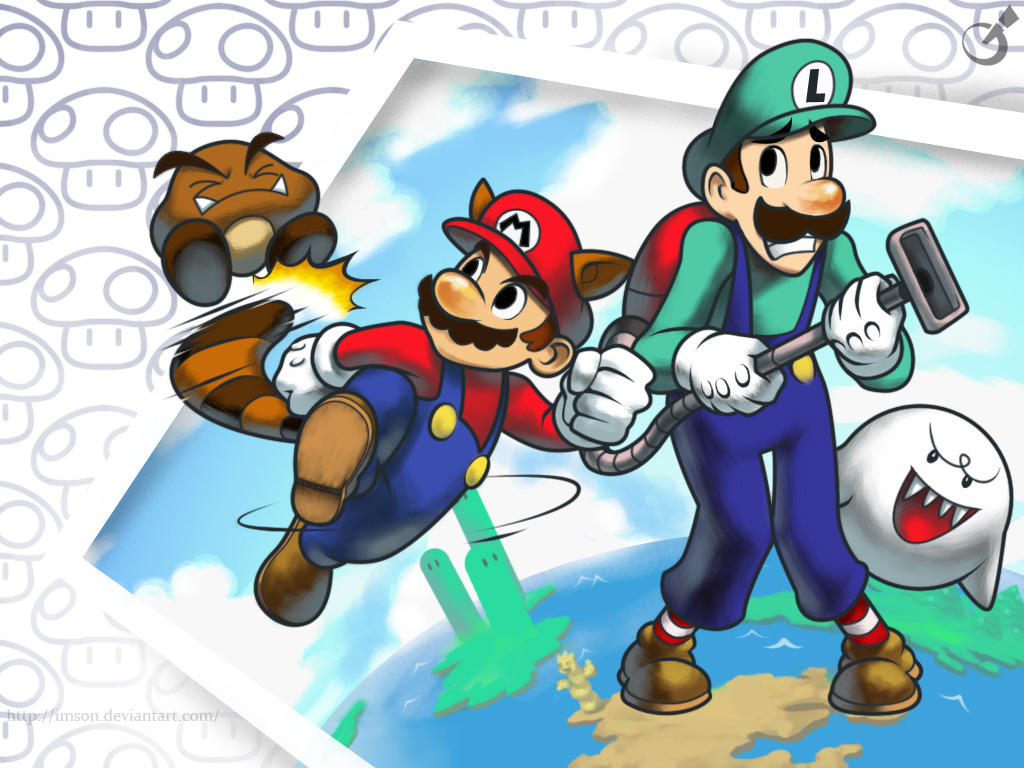 Mario Bros. Wallpaper by Imson