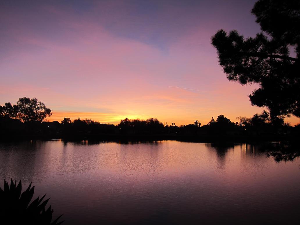 Sunrise on the Lagoon by transcendelia