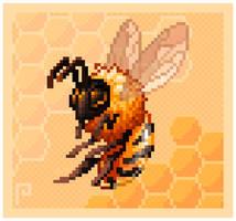 Bee by pixelatea