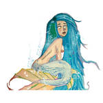 Blue hairi mermaid