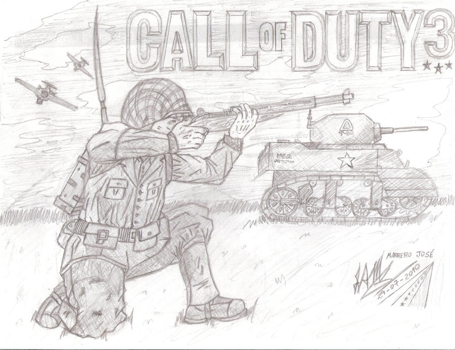 Рисуем call of duty