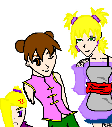 Angry Ino, Tenten, and Temari by JessicaL98000