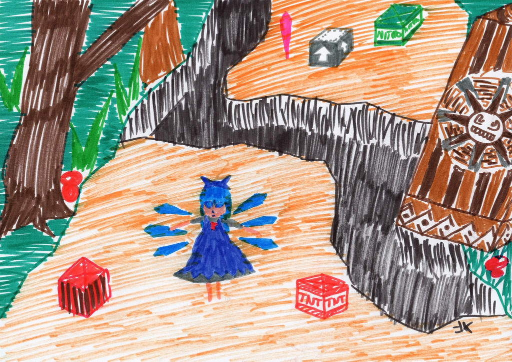 Touhou abstract Hey_cirno___you_re_playing_the_wrong_game___by_nodimensions-d7u36pf