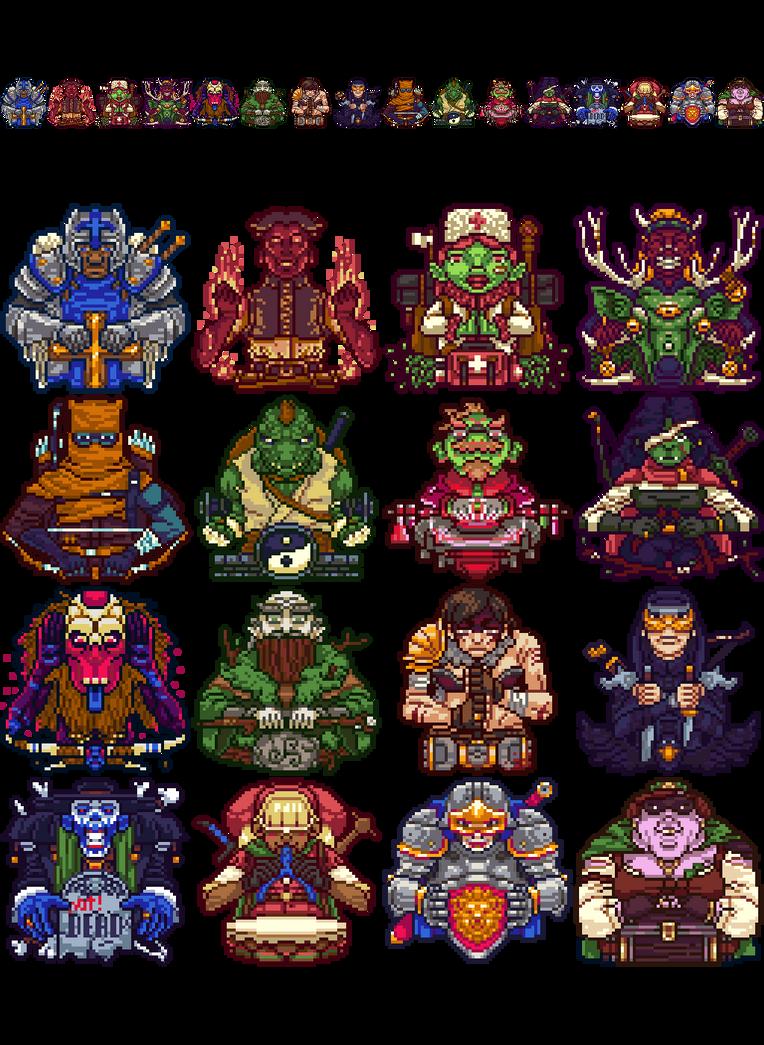 Pixel RPG Classes by Olsonmabob