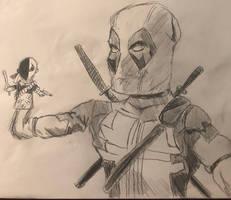 Deadpool Drawing #31 w/ Slade Hand Puppet