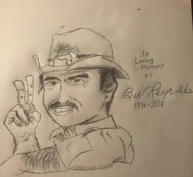 Tribute Drawing - Burt Reynolds
