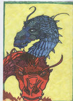 Saphira and Thorn by Caranth