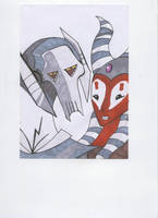 Grievous and Shaak Ti by Caranth