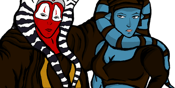 Shaak ti and aayla by Caranth