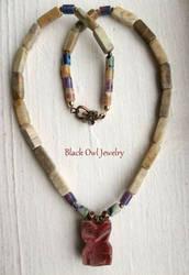 Stone Owl Necklace by IdolRebel