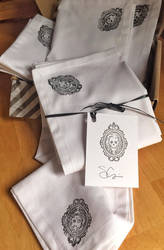 Set of four Day of the Dead cloth napkin set SALE by IdolRebel