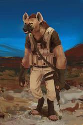 Military Gnoll by RhorseAnon