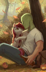 Roseluck and Anon by RhorseAnon
