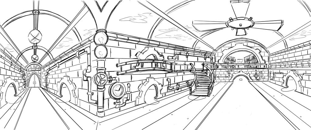 Mid term project (Perspective Drawing) by AnimeKubo1