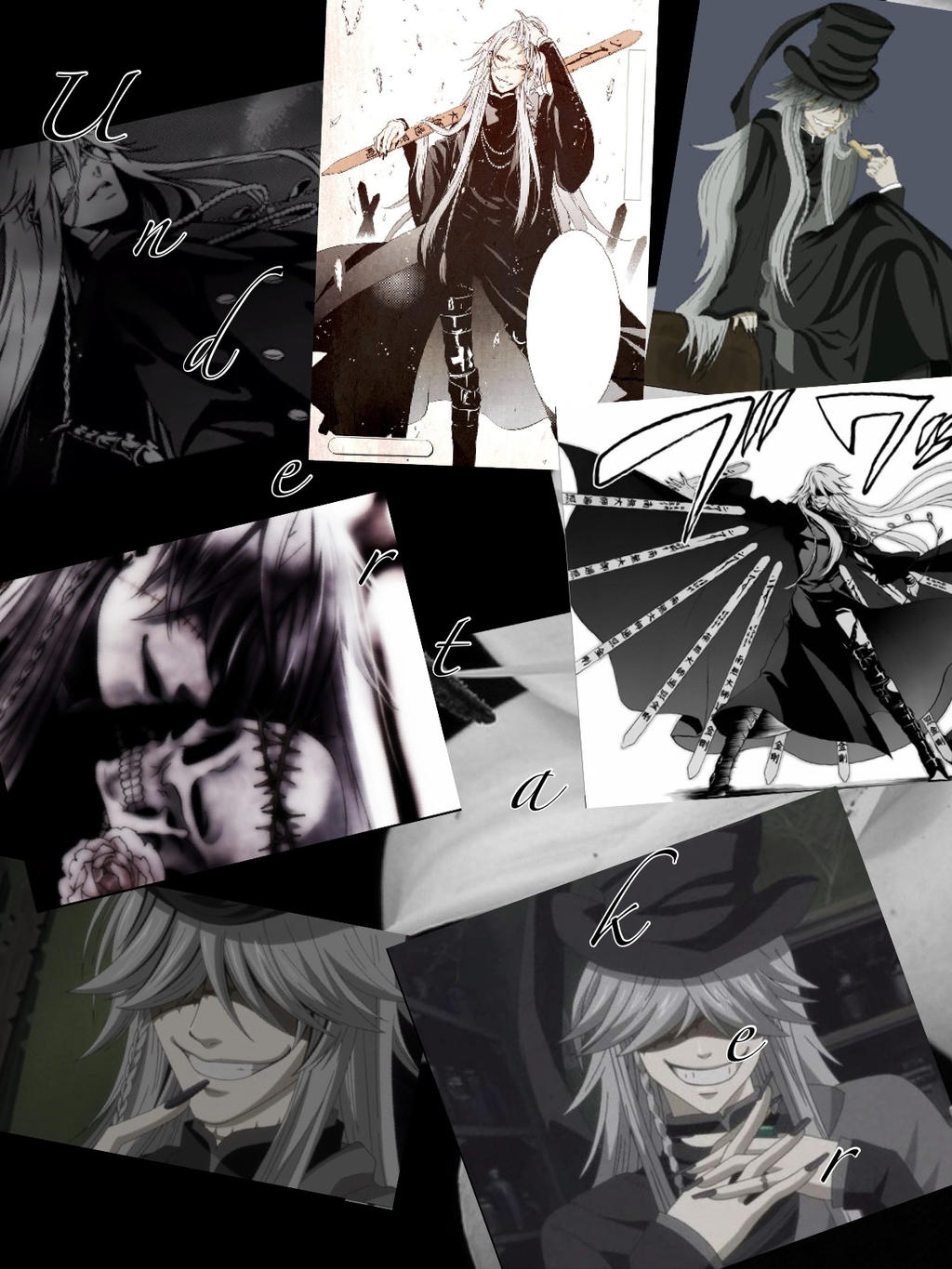 Black Butler Undertaker Collage By TeamVolturiLeader