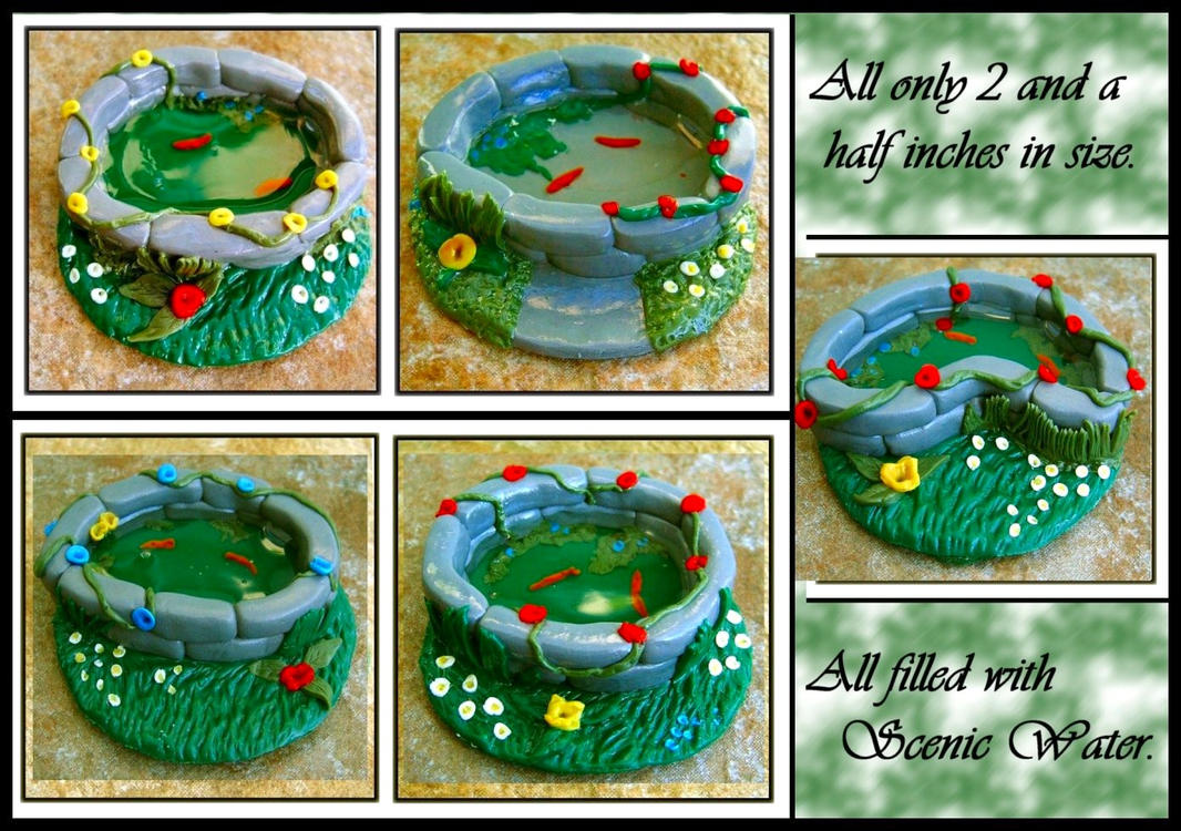 5 ooak polymer clay ponds by forestina fotos on deviantart for Clay fish pond