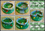 5 OOAK Polymer Clay Ponds
