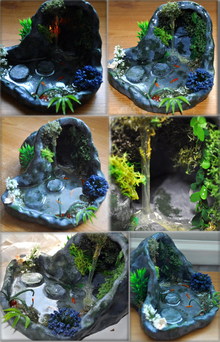 Large Grotto With Stepping Stones 12th Scale By Forestina