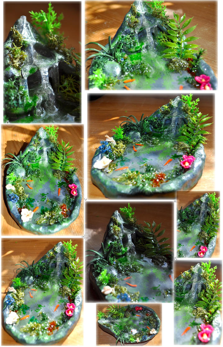 OOAK Faery Waterfall Pond by Forestina-Fotos