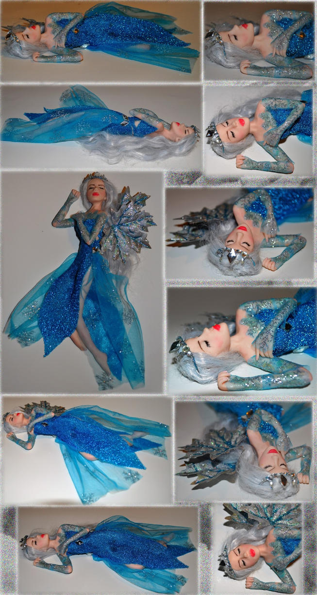 Elsa inspired OOAK fairy by Forestina-Fotos
