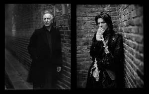 RIP David Bowie and Alan Rickman by Forestina-Fotos