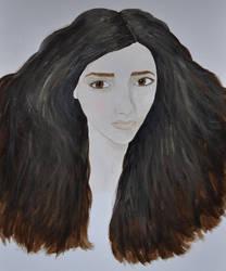 Acrylics Practice Portrait WIP