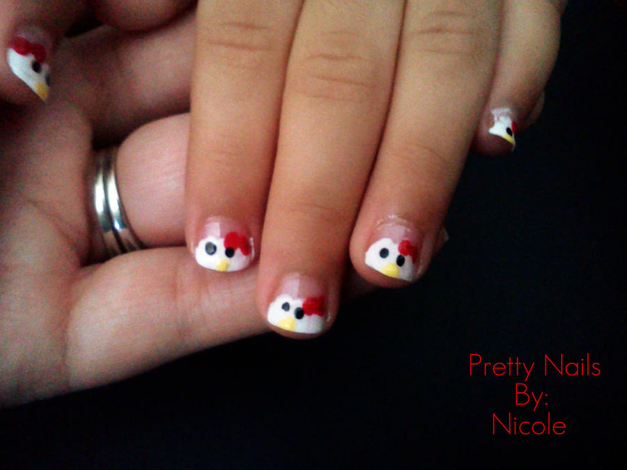 Nail Art Kids Hello Kitty By Ninjanatus84 On Deviantart