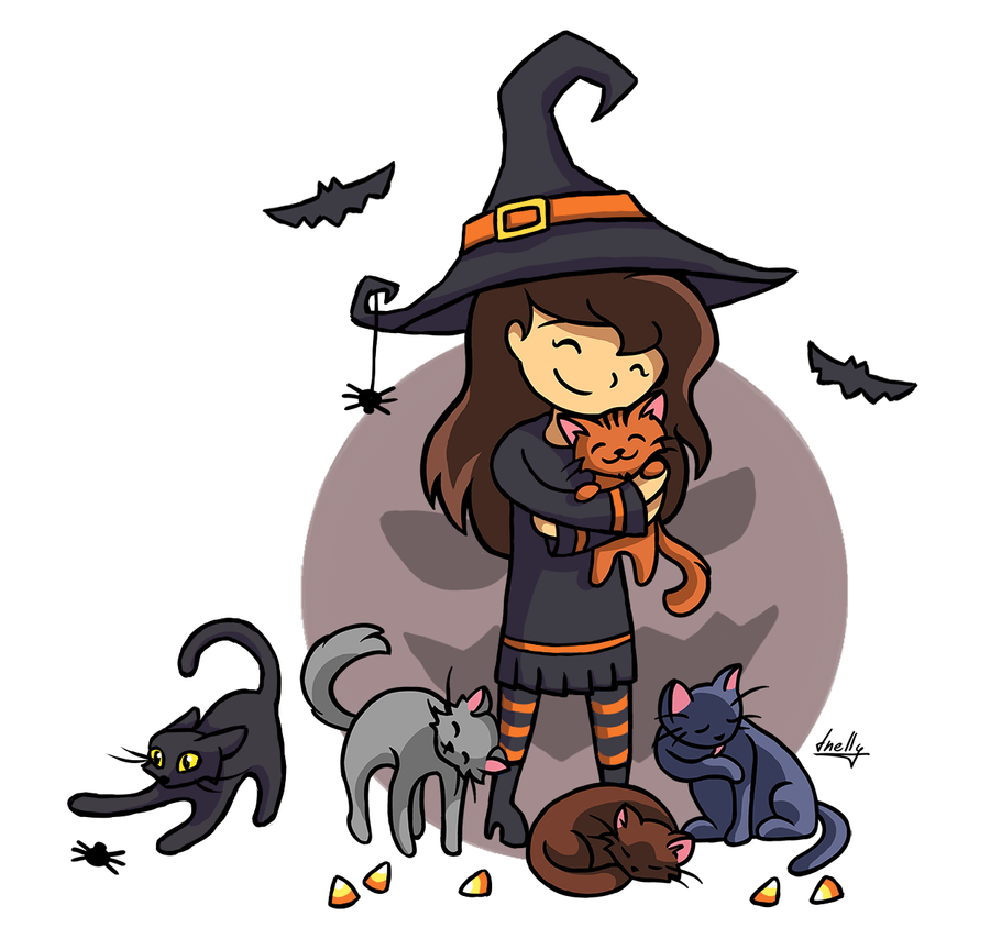 Caturween by T-Nelly