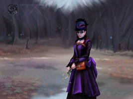 Violet at the edge of the forest by CERose