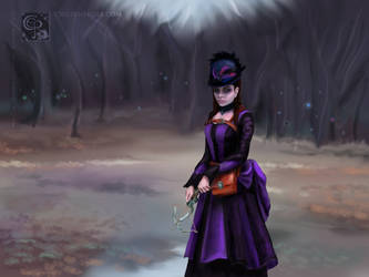 Violet at the edge of the forest