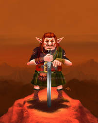 Scottish goblin warrior