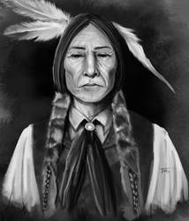 Native american Self portrait