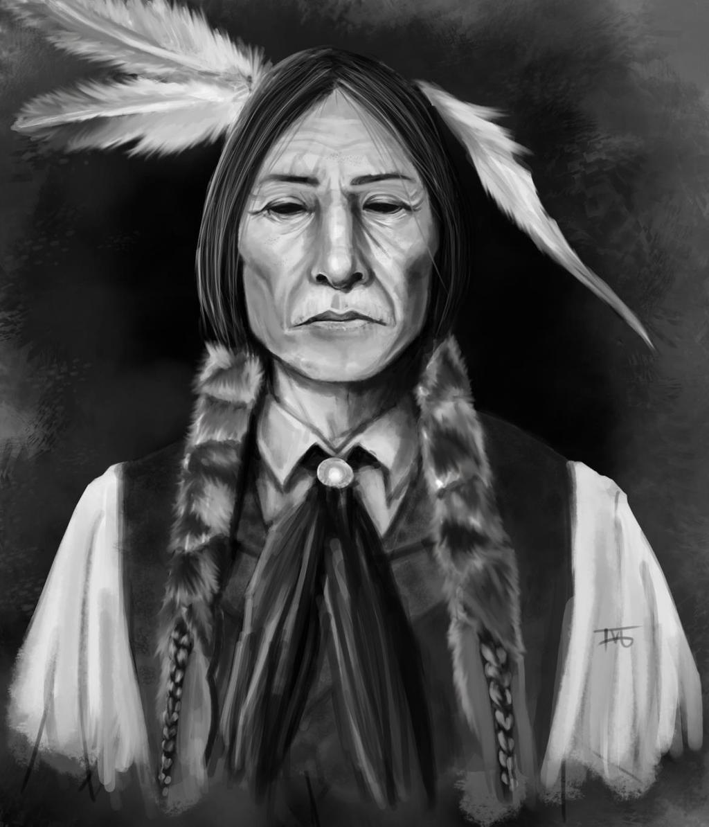 Native american Self portrait