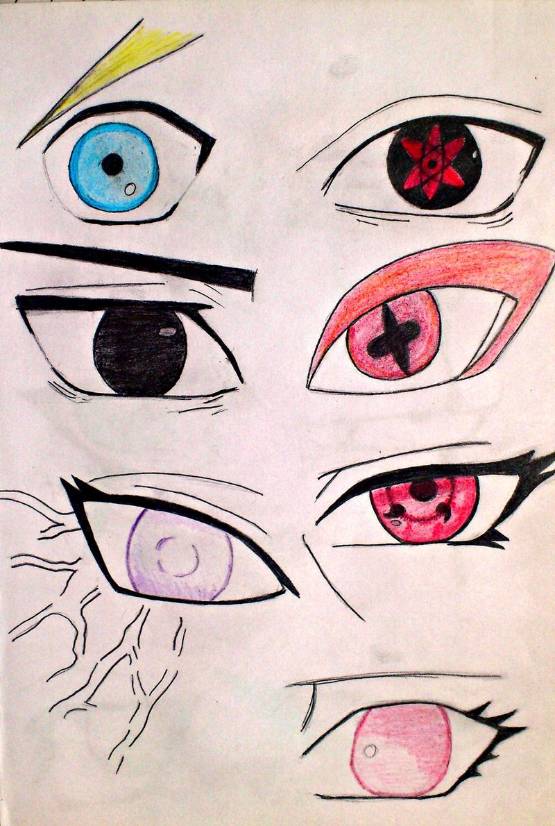 Naruto Characters Eyes