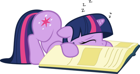 Sleepy bookworm