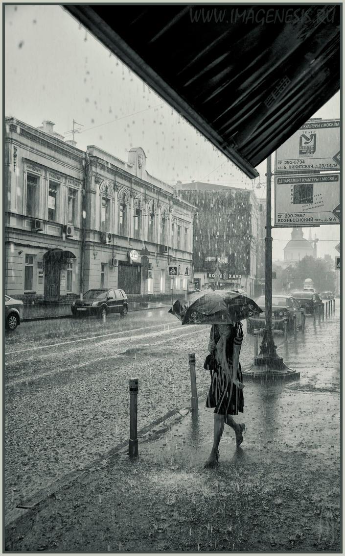 Walking under rain by Igor-Demidov