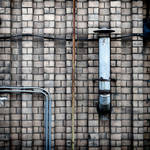 pipes on bricks