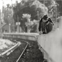 On the edge of the platform